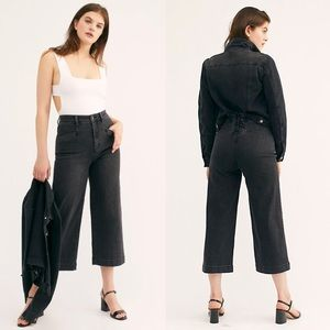 ✨ Free People CRVY Lace-Up Crop Wide-Leg Jeans ✨